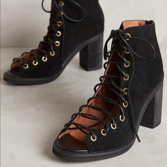 3c41e63f4 Jeffrey Campbell Shoes - Jeffrey Campbell Cors Suede Peep Toe Bootie Black